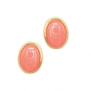Earring 9ct 1172 Coral