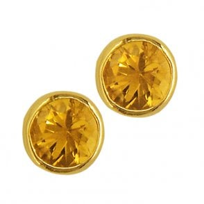 Ladies Shipton and Co 9ct Yellow Gold and Yellow Sapphire Earrings EY0074YS