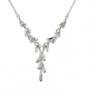 Ladies Shipton and Co Exclusive Silver Necklace NQP069NS