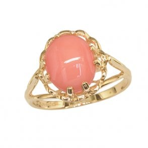 Ring 9ct 0078 Coral