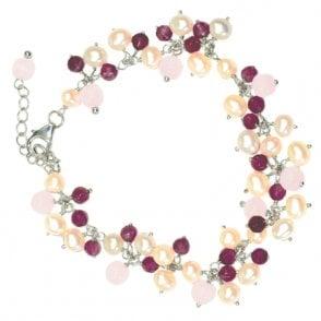 Ladies Shipton and Co Exclusive Silver and Multiple Stone Bracelet TOJ036MU