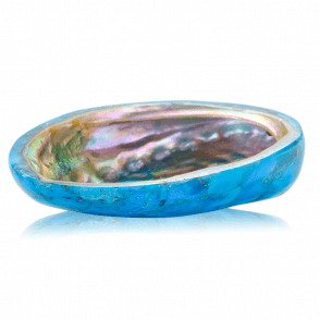 Turquoise Trinket Bowl inlaid with Paua Shell
