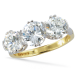 Ladies Shipton and Co Exclusive 9ct Yellow Gold and Cubic Zirconia Ring RY0002CZ