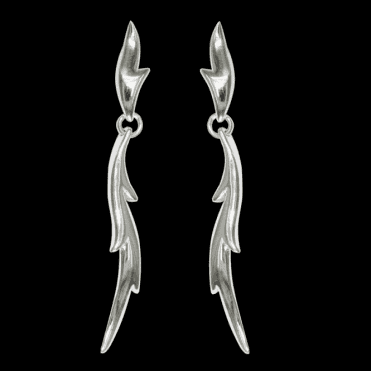 Sil Spiky Leaf Drop Earring