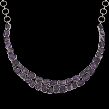 Ladies Shipton and Co Exclusive Silver and Amethyst Necklace TSI004AM