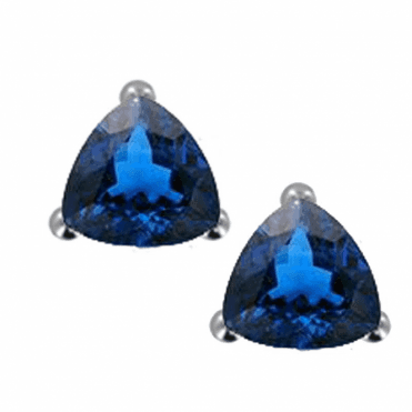 Ladies Shipton and Co Silver and Blue Topaz Earrings EQA313BTL