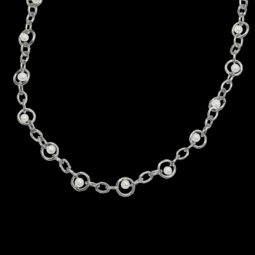 Ladies Shipton and Co Exclusive Silver and Freshwater Pearls Necklace NQA153FP1