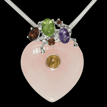 Ladies Shipton and Co Exclusive Silver and Multiple Stone Pendant including a 16 Silver Flexisnake Chain TTL150MU