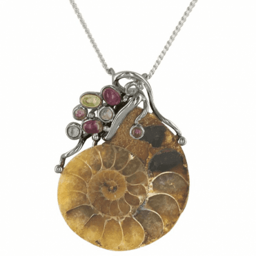 Ladies Shipton and Co Exclusive Silver and Real Fossil Pendant including a 16 Silver Chain TTL103MU