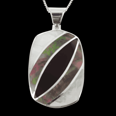 Ladies Shipton and Co Exclusive Silver Antler Mother of Pearl Pendant including a 16 Silver Chain TKW455PMON