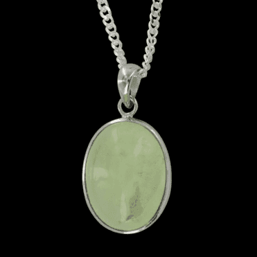 Ladies Shipton and Co Exclusive Silver and Prenhite Pendant including a 16 Silver Chain TYS057PR
