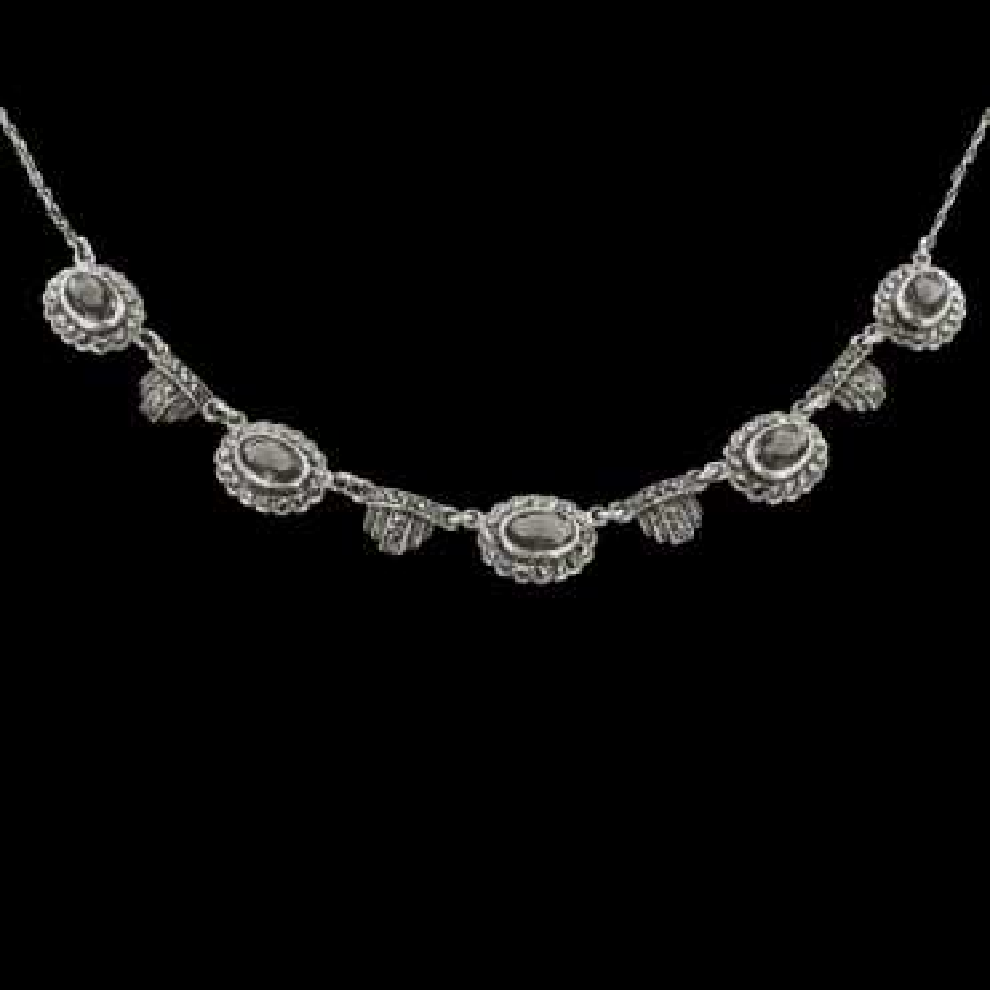 Ladies Shipton and Co Exclusive Silver and Smokey Quartz Necklace NQ0775SQ