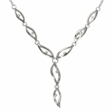 Ladies Shipton and Co Exclusive Silver and Diamond Necklace NQA310DI