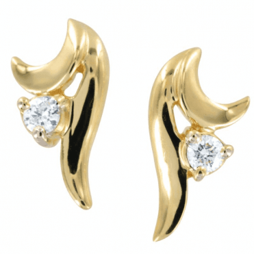 Ladies Shipton and Co Exclusive 9ct Yellow Gold The Vienna Suite Diamond Earrings EYD095DI