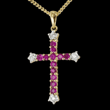 Ruby & Diamond Augustine Cross