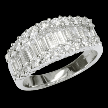 Ladies Shipton and Co Exclusive 18ct White Gold 1.55ct Imperial Baguette Cut Diamond Ring TFL497DI
