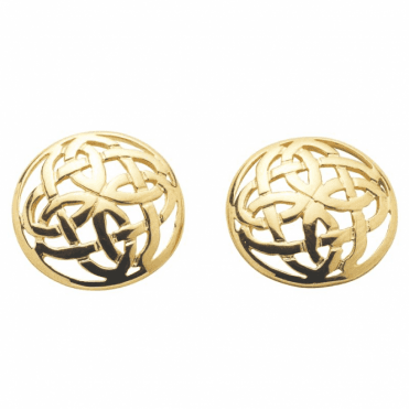 Ladies Shipton and Co Exclusive 9ct Yellow Gold Celtic Knot Stud Earrings TAR064NS