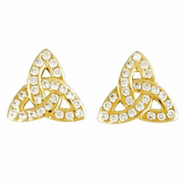 Sparkling Trefoil Earrings