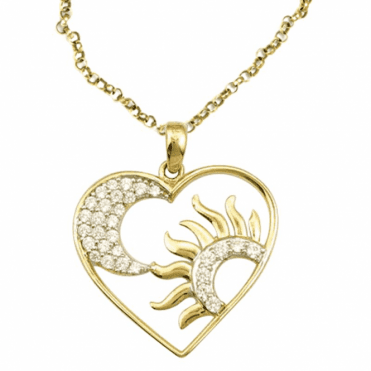 Ladies Shipton and Co Exclusive 9ct Yellow Gold and Cubic Zirconia Pendant including a 20 9ct Yellow Gold Chain TAR470CZ