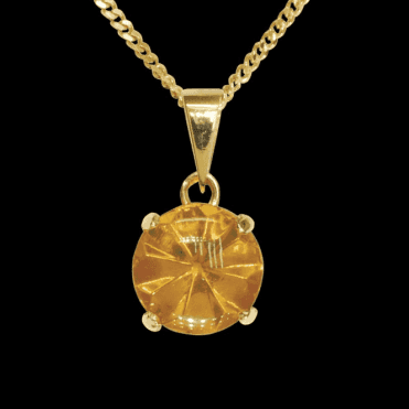 Ladies Shipton and Co 9ct Yellow Gold and Amber Pendant including a 20 9ct Yellow Gold Chain PY2265AB1