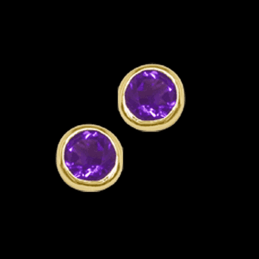 9ct Gold Amethyst Studs