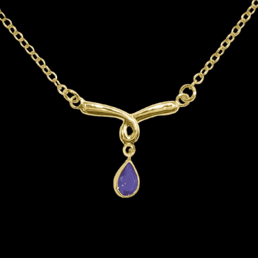 Ladies Shipton and Co Exclusive 9ct Yellow Gold and Amethyst Necklace NY1762AM