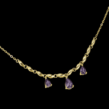 Ladies Shipton and Co Exclusive 9ct Yellow Gold and Amethyst Necklace NYG006AM