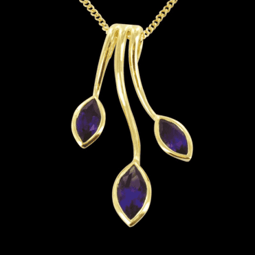 "Ladies Shipton and Co Exclusive 9ct Yellow Gold and Amethyst  Pendant including a 16"" 9ct Chain  PYG012AM"