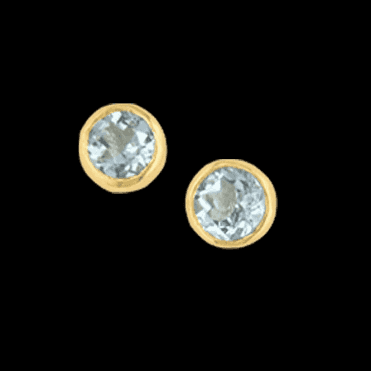 Earring 9ct 0074 Aquamarine