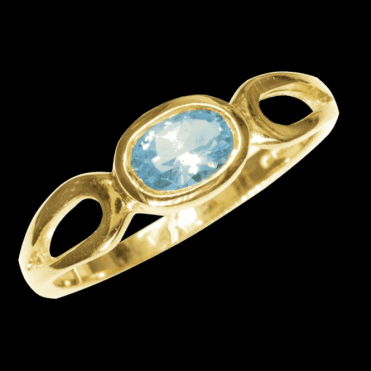 Ring 9ct 1190 Aquamarine