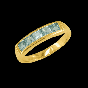 Ladies Shipton and Co Exclusive 9ct Yellow Gold and Aquamarine Ring RY1375AQ