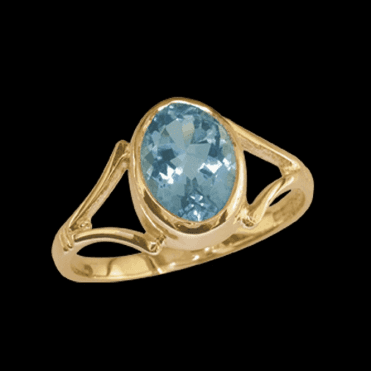 Ladies Shipton and Co Exclusive 9ct Yellow Gold and Aquamarine Ring RY1410AQ