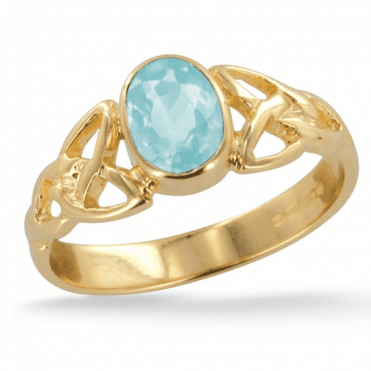 Ladies Shipton and Co Exclusive 9ct Yellow Gold and Aquamarine Ring RY1769AQ
