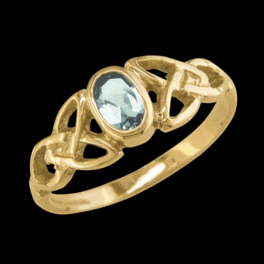 Ladies Shipton and Co Exclusive 9ct Yellow Gold and Aquamarine Ring RY1770AQ