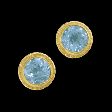 Ladies Shipton and Co Exclusive 9ct Yellow Gold and Blue Topaz Earrings EY0208BT