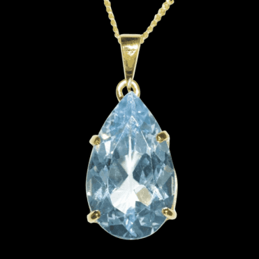 A Dazzling Statement Piece - 12 Carats of Sky Blue Topaz
