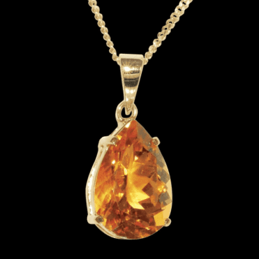Ladies Shipton and Co 9ct Yellow Gold and Citrine Pendant including a 16 9ct Chain PY1484CI