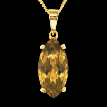 Ladies Shipton and Co 9ct Yellow Gold and Citrine Pendant including a 16 9ct Chain PY2145CI