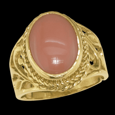 Ladies Shipton and Co Exclusive 9ct Yellow Gold and Coral Ring RY1193CL