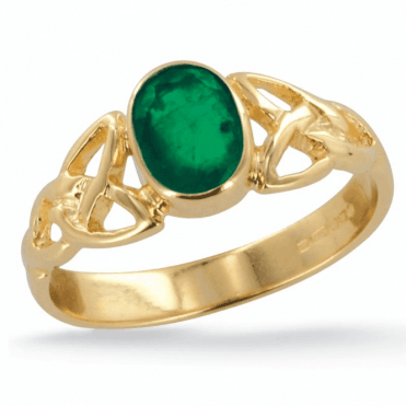 Ladies Shipton and Co Exclusive 9ct Yellow Gold and Emerald Ring RY1769EM