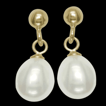 Ladies Shipton and Co Exclusive 9ct Yellow Gold and Freshwater Pearls Earrings EY1431FP