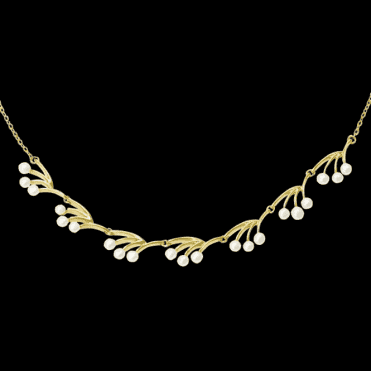 Ladies Shipton and Co Exclusive 9ct Yellow Gold and Freshwater Pearls Necklace NYG004FP1