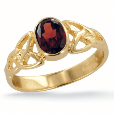Ladies Shipton and Co Exclusive 9ct Yellow Gold and Garnet Ring RY1769GR