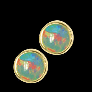 Ladies Shipton and Co 9ct Yellow Gold and Opal Earrings EY0074OP