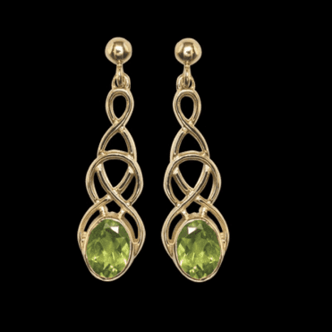 Ladies Shipton and Co Exclusive 9ct Yellow Gold and Peridot Earrings EY1866PE