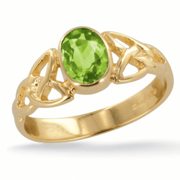 Ladies Shipton and Co Exclusive 9ct Yellow Gold and Peridot Ring RY1769PE
