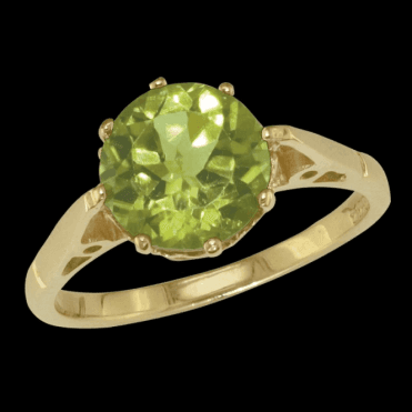 Ring 9ct 2165 (9mm Rd) Peridot