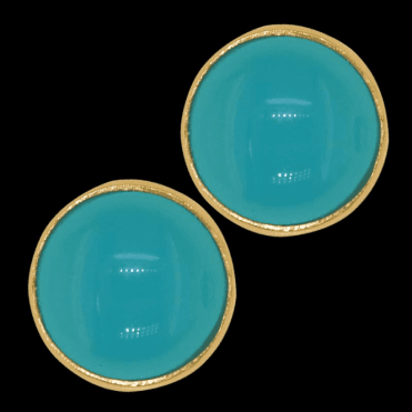 Ladies Shipton and Co 9ct Yellow Gold and Turquoise Earrings EY1560TQ