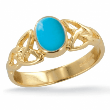 Ladies Shipton and Co Exclusive 9ct Yellow Gold and Turquoise Ring RY1769TQ