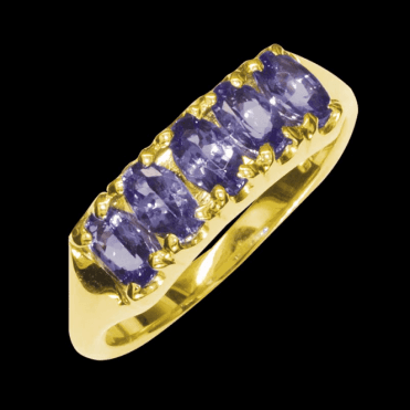 Ladies Shipton and Co Exclusive 9ct Yellow Gold and Tanzanite Ring RY1176TZ